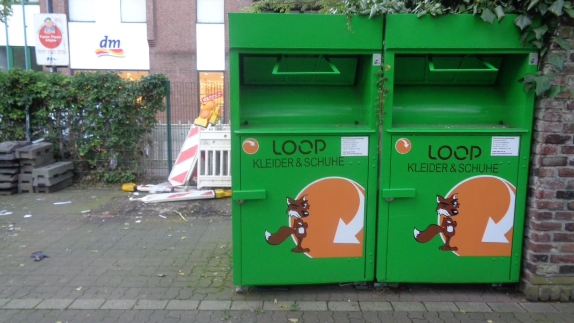 alter Container-Stellplatz Gonellastraße Meerbusch